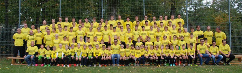Gruppenfoto Jugendmannschaften 2015